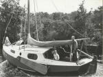 Familie Baarda op de boot